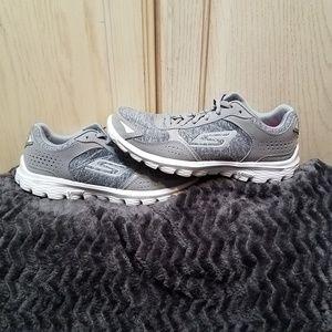 Sketchers Go Walk Flash Goga Mat Grey Walking Shoe